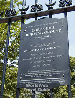Worldweb Com Photo Copps Hill Burying Ground Ma